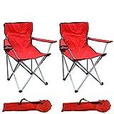 Mojawo Lot de 2 chaises pliantes pour la...