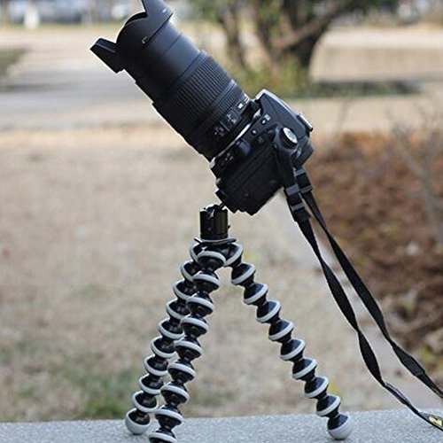 Octopus Camera Tripod, Walway Flexible Cell Phone Holder Stand Selfie Stick with Quick-Release Plate for Smartphone/Camera/GoPro/Action Camera/DSLR