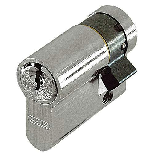 Abus Türzylinder C83N 10/30 Halbzylinder, gleichschließend Pilzkopf-Gegenstifte (5-Stift-Zylinder) Zylinderlänge: 10/30 mm, inkl. 3 Schlüssel nach Güterichtlinie DIN EN 1303 u. DIN 18252