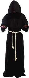 Cos2be Medieval Priest Monk Robe-Hooded Cap Cloak