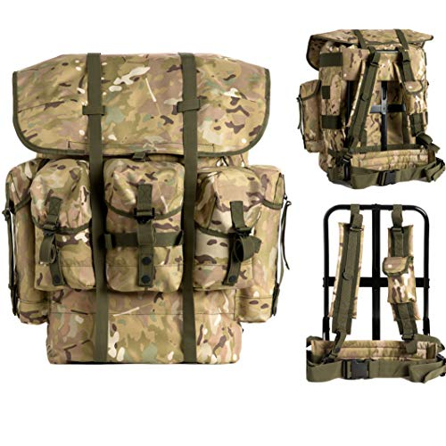 Akmax.cn Military Surplus Rucksack Alice Pack,Army Survival Combat Field,Bug Out Bag, A.L.I.C.E. Backpack with Suspender Strap and Frame 1000D Nylon Waterproof Multicam