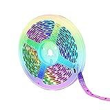 LIUXING-Home Tira De LED Inteligente LED Impermeable LED Symphony Light Strip Bluetooth Light Strip Set RGB Marquee Music Tira de luz Colorida Decoración Interior y Exterior (Color : White)