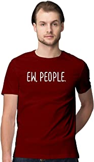 Atrangi Store Cotton Classic Printed Men Tshirts Boys Slim Fit Round Neck ew_People Printed Half Sleeves T-Shirt for Gift ...