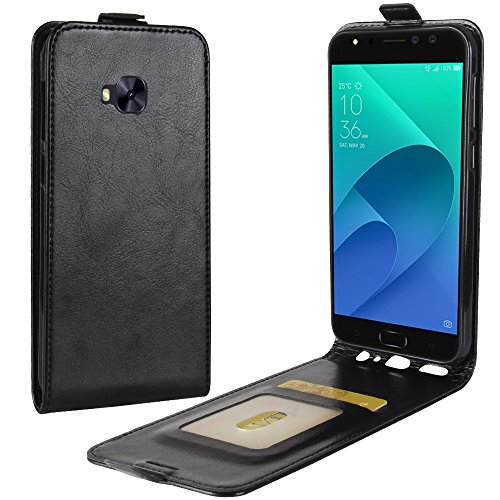 XMT Asus ZenFone 4 Selfie Pro ZD552KL 5.5' Custodia,Premio PU Custodia in Pelle con Wallet Case Cover per Asus ZenFone 4 Selfie Pro ZD552KL Smartphone (Nero)