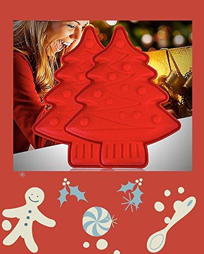 2 moldes de silicona para crear un fabuloso árbol de Navidad 3D para decoración de tartas o centro de mesa