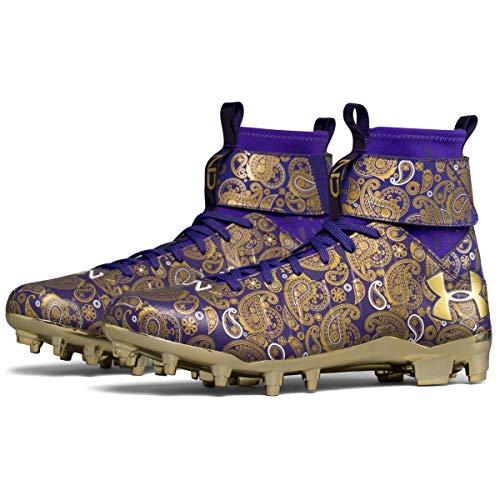 Under Armour C1N MC Football Cleats (Purple/Metallic Gold, 11.5 D(M) US)