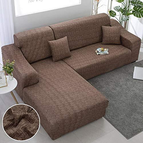 Fundas de sofá Chaise Longue para Sala de Estar Fundas elásticas para sofá Fundas elásticas de Esquina en Forma de L Funda de sofá A15 3 plazas