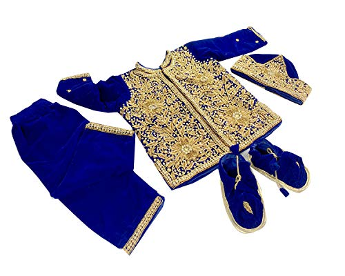 Srawen Pasni Dress/Set Nepali annaprasan Ceremony/Rice Feeding Baby Boy WEANING ceromony Dress Blue