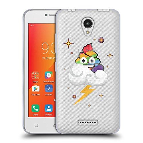 Head Case Designs Oficial Emoji Pixel Rainbow Cloud Poo 2 Carcasa de Gel de Silicona Compatible con Lenovo A Plus