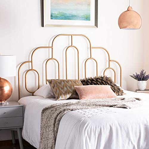 Safavieh Home Paloma Retro Gold Headboard, Full