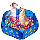 Likorlove Kinder Bällebad, Pop Up Baby Kugelbad Outdoor mit Mini Basketballkorb Bällepool Bällebecken Spielbälle Kugelbad Bällchenbad Spielbecken für drinnen und draußen 47 inch