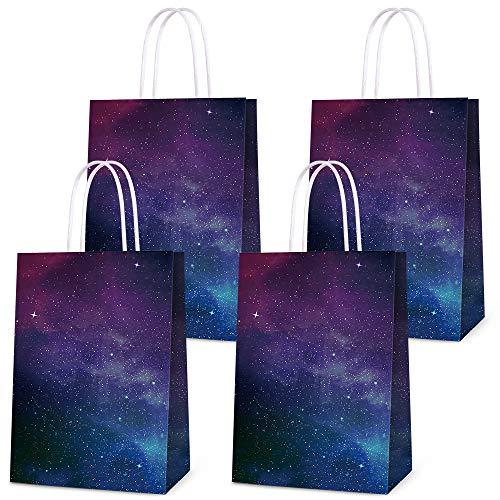 Bolsas de regalo para galaxia de cumpleaños, fiestas, regalos de fiesta, golosinas para regalos de galaxia, decoración de fiesta de cumpleaños, decoración de fiesta temática de galaxia, 16 unidades