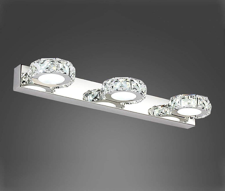 Ogsiwr Bad Spiegel Lampen LED Kristall Spiegel Scheinwerfer Bad WC Bad Wasserdicht Feuchtigkeit Wandleuchte Make-up Lampe Bad Beleuchtung (Farbe  B) (Farbe   A, Gre   -)