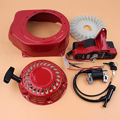 LIBEI Kit de Bobina de Encendido de la Carcasa del Ventilador de refrigeración del Interruptor de Arranque de Retroceso para Honda GX160 GX200 168F 2-3KW Bomba de Agua del generador del Motor