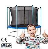 Gartentrampolin Trampolin 12FT 366cm Outdoor Trampolin mit Sicherheitszaun und Gepolsterte Stangen für Kinder Indoor Outdoor Fitness, Belastbar bis 150 kg