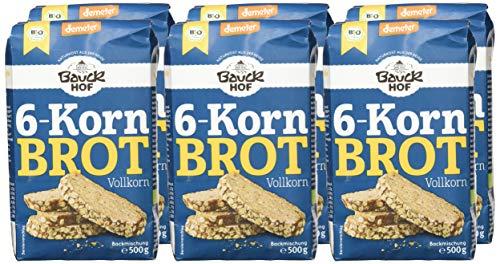 Bauckhof 6-Korn-Brot Vollkorn Demeter, 6er Pack (6 x 500 g) - 5