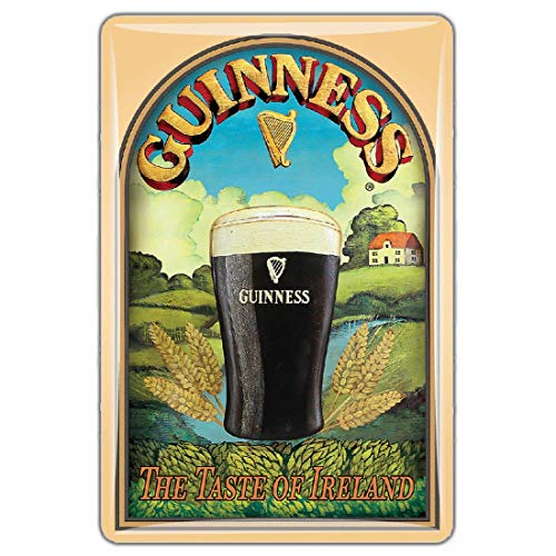 Guinness Official Merchandise Quality Epoxy Magnet With Retro Pint Design