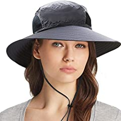 👒FOLDABLE&PORTABLE: The top is completely soft and collapsible, pack it in your suitcase flat and then when hiking, it folded in half nicely and tucked into your backpack without adding almost any extra weight. The hat weight just 0.24lb!!! closure 👒...