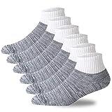 +MD 6 Paar Diabetikersocken breiter B& Halbgepolsterte Ges&heitssocken ohne Gummib& Socken für Diabetiker Grau EU39-42