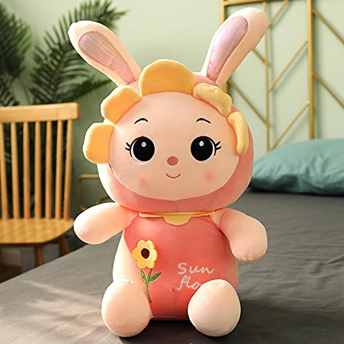 Bedom wallpaper Conejo muñeca conejito peluche princesa conejo blanco muñeca lindo muñeca sueño rosa - flor cara conejo_45 cm