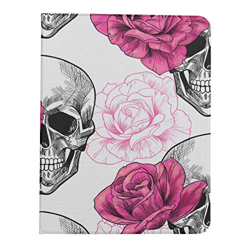 AQQA Case For Ipad Pro 11 Inch 2nd & 1st Generation 2020/2018 Cover For Ipad Pro 11 Inch Skull Rose Flower Party Cute Tablet Case Support Ipad 2nd Gen Pencil Charging