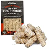 Fire Starters- VALUE Pack of 50 firelighters are ALL NATURAL and made of hardwood Fire lighters are LIGHTNING FAST- Better than fire starter cubes, squares, logs or nuggets Firestarters light quickly, easily and do not flare up Firelighters are great...