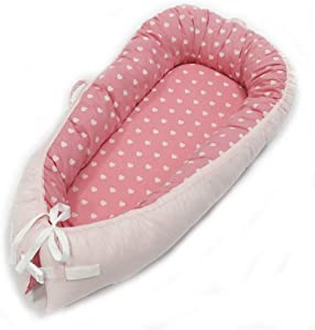 Frazazy Cotton Portable Travel Infant Bed Cribs Bassinet Baby Nest for Baby Lounger Breathable Folding Bed