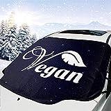 MOLLUDY Protector para Parabrisas Vegano Vegetariano Protector para Parabrisas con imán Cubierta de Parabrisas Coche Protege de Rayos Antihielo y Nieve