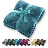 Manta gräfenstayn® - muchos tamaños y colores diferentes - manta de microfibra manta para sala de estar manta para cama - fibra polar de microfibra de franela (turquesa, 200x150 cm)