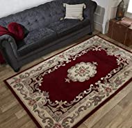 Pile: 100% Hand Full Cut Wool Hand floor rug with traditional floral design. Traditional Aubusson design heavy rug Beautiful 100% full cut, hand tufted wool available in traditional shapes and timeless colours. That's why classics become classics for...