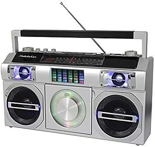 Studebaker SB2149S Master Blaster Bluetooth Boombox with 3 Way Power, AM/FM Radio, USB Port, CD Player with MP3 Playback, ...