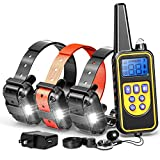 F-color Dog Training Collar, Rechargeable Waterproof Dog Shock Collar 2600ft Remote Range Dog...
