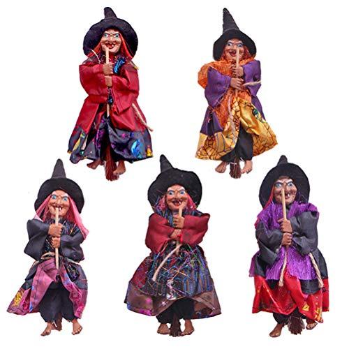 Figura de bruja de terror colgante, color al azar para Halloween, decoración de fiesta de Halloween, decoración de fiesta de Halloween