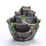 Maceta Suculenta de Resina, 1 Pc Maceteros para Flores Creativas Decoración Maceta Bonsai Plantas Adornos para Jardín Casa Escritorio de Oficina, 17.5 * 17 * 16cm