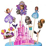 Topper de Tarta - Disney Sofia Decoración para Pasteles Set, Fiesta de Cumpleaños DIY Decoración Suministros, Decoraciones para Tarta fiesta de cumpleaños de niños, fiesta de princesas de nieve,40pcs