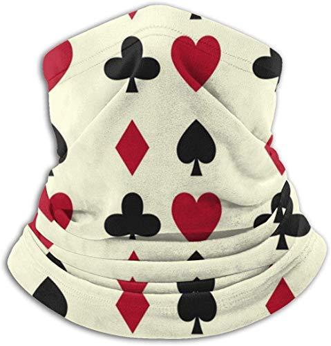 hon-ey WE r Karten Casino Glücksspiel Stirnband Gesichtsmaske Kopftuch Kopfwickelschal Nackenwärmer Kopfbedeckung Sturmhaube für den Sport