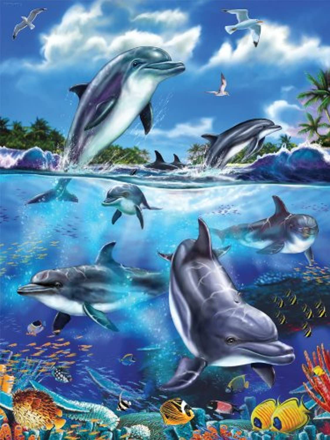 Ravensburger Dolphin Family  100 Piece Puzzle