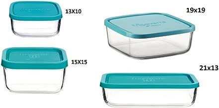 350 ml di Forma Rettangolare capacit/à 350/ml Vetro Kitchen Craft Pure Seal Clear Contenitore Alimentare in Vetro a Chiusura ermetica 12.5 FL oz Utilizzabile Come teglia da Forno