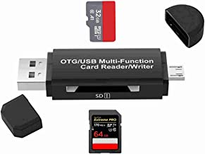 Micro SD Card Reader,SD Card Adapter SD,Micro USB OTG 2.0 Adapter Portable Memory Card Reader/Writer,Micro USB Male Connector for MacBook PC SmartphonesTablets with OTG Function