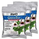 Zand HerbaLozenge Green Tea | Echinacea & Eucalyptus Lozenges w/Soothing Throat Herbal Blend | No Corn Syrup or Cane Sugar | 3 Bags, 15 Lozenges