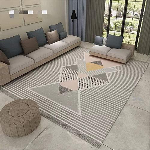 YUNSW Polyesterfaser Geometrischen Teppich Modernen Flanell Wohnzimmer Couchtisch Decke Schlafzimmer Bett Umgebenden Teppich Kurzer Samt Teppich Waschbar Teppich
