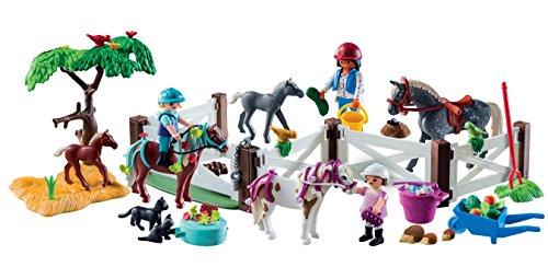PLAYMOBIL Calendario de Adviento 9262 Granja de Caballos, A partir de 4 años, multicolor