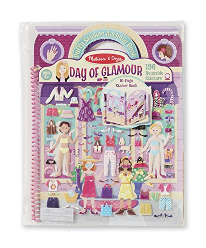 Melissa & Doug Puffy Sticker Activity Book--Day of Glamour