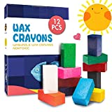 MUSCCCM Crayones para Niños, 12 Colores Crayones en Bloque Lavables No Tóxicos...