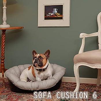 Coussin Ferplast pour Chien et Chats Coussin Sofa' 6 Coussin de Rechange Rembourré pour Corbeille en Plastique, Coton Doux Lavable, Réglable avec Cordon Élastique, 73 X 55 X H 27 cm Gris