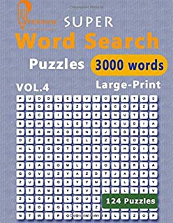 Super Penguin Word Search Puzzles 3000 Words Vol.4 Large-Print: The World's Largest Word Search Puzzle Book boosting entertainment for adults and kids