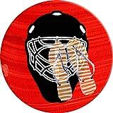 PEIGJH Tappeti Rotondo Moderni Soggiorno 60cm, Maschera Portiere per Hockey su Ghiaccio Tappeto Lavabile Antiscivolo per Bagno e Camera da Letto Bambini Camera