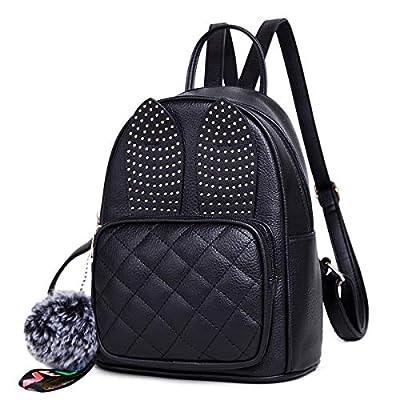 Girls Rabbit Ear Cute Mini Leather Backpack, XB Small Backpack Purse for Women Fashion Shoulder Bag