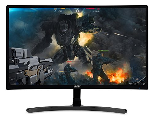 "Acer Gaming Monitor 23.6"" Curved ED242QR Abidpx 1920 x 1080 144Hz Refresh Rate AMD FREESYNC Technology (Display Port, HDMI & DVI Ports)"