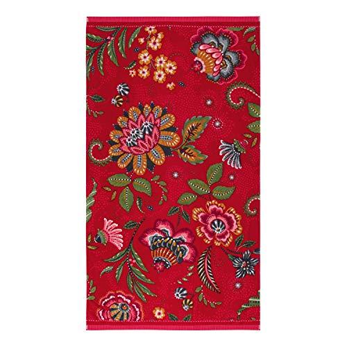PiP Studio Strandlaken Medina Rot Blumen Blüten 100 cm x 180 cm